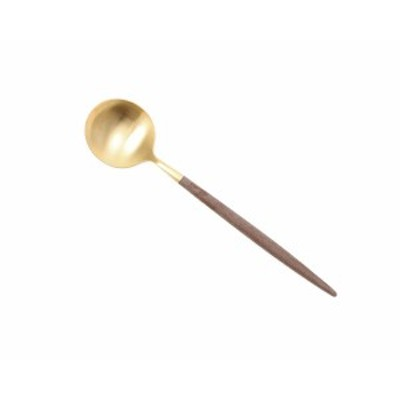 クチポール ゴア ブラウンマットゴールド デザートスプーン Cutipol GOA [ネコポス対応可(18点まで)][ネコポスなら送料無料]