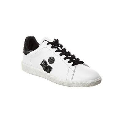 レディース シューズ  Isabel Marant Brownsy Logo Leather Sneaker