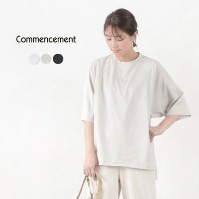 COMMENCEMENT(コメンスメント) ドルマン ショートスリーブ ワイドTシャツ / レディース / 半袖 / 無地 / 日本製