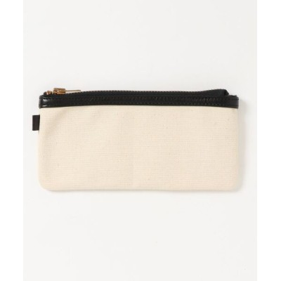 sunny branch / 【W】【STORAGE OF VALUES】LEATHER&CANVAS POUCH WOMEN 財布/小物 > ポーチ