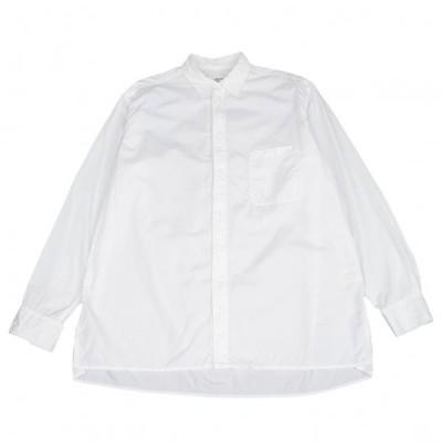ヨウジヤマモト プールオムYohji Yamamoto POUR HOMME コットンブロードパッカリングシャツ 白4 【メンズ】