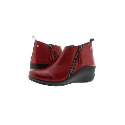 Wolky ウォーキー レディース 女性用 シューズ 靴 ブーツ アンクル ショートブーツ Sensation Anvik - Dark Red Savana Leather