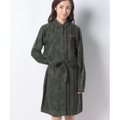 【デシグアル】 WOMAN WOVEN DRESS LONG SLEEVE レディース グリーン 40 Desigual