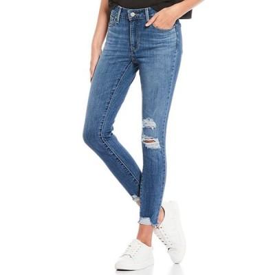 リーバイス レディース デニムパンツ ボトムス 711 27#double; Inseam Distressed Raw Hem Ankle Skinny Jeans