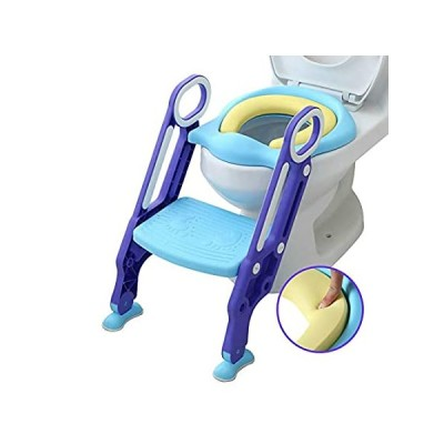 Mangohood Potty Training Toilet Seat with Step Stool Ladder for Boys and Gi