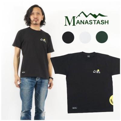 MANASTASH マナスタッシュ サイドプリント スマイル 半袖 Tシャツ