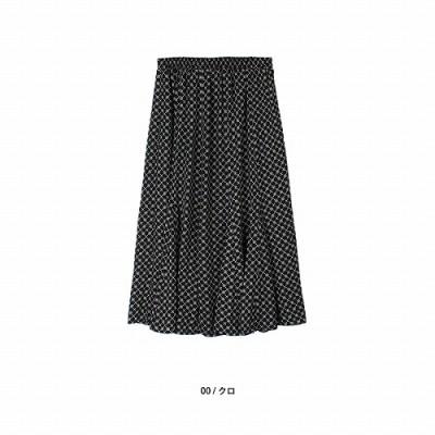 プリントギャザーフレアスカート【LL―5L】(エムビー/MB)