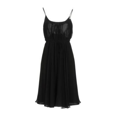 ガリアーノ GALLIANO ミニワンピース&ドレス ブラック 42 シルク 100% / ポリエステル / ポリウレタン ミニワンピース&ドレス