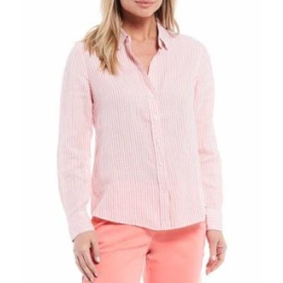 トッミーバハマ レディース シャツ トップス Yacht Me Knot Long Sleeve Linen Blend Shirt Dubarry Combo