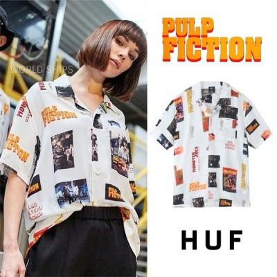 huf ハフ 半袖 シャツ パルプフィクション メンズ レディース HUF × PULP FICTION コラボ シャツ  即発可