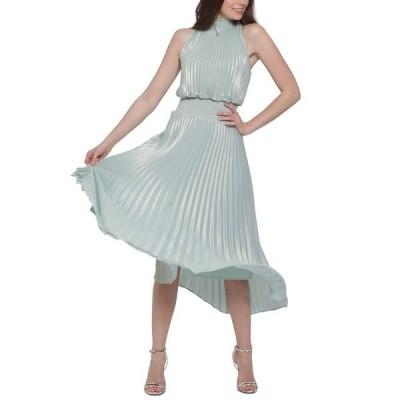 エスケープ ワンピース トップス レディース Pleated Metallic Midi Dress Mint Metallic