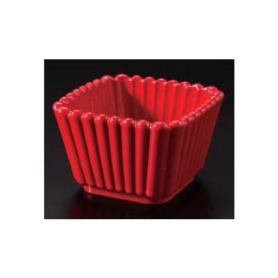 小鉢 和食器 小付  豆鉢 珍味 角菊割小鉢 赤二度塗 ABS樹脂 f6-697-34
