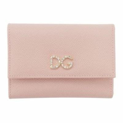 ドルチェandガッバーナ Dolce and Gabbana レディース 財布 Pink Crystal Logo Trifold Wallet Pink