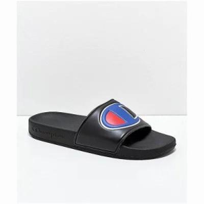 チャンピオン サンダル・ミュール IPO Black Slide Sandals Black