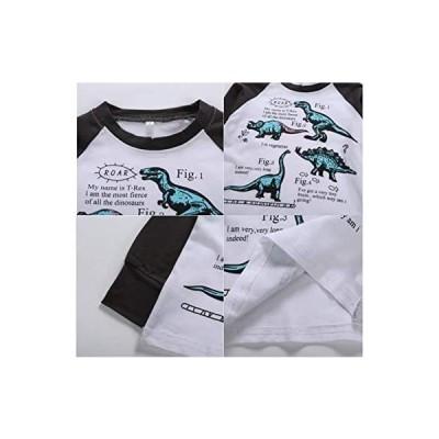 ヴォレ パジャマ キッズ 子供服 男の子 長袖 恐竜 ベビーパジャマ 子供用パジャマ 英字 110