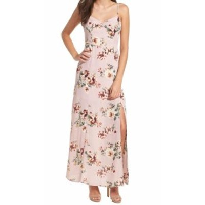 Leith ライス ファッション ドレス Leith NEW Pink Floral Print Womens Size XXL Slit Sheath Maxi Dress