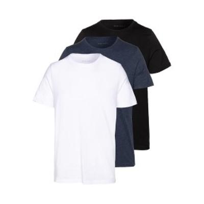 ピアワン メンズ Tシャツ トップス 3 PACK - Basic T-shirt - black/white/blue black/white/blue
