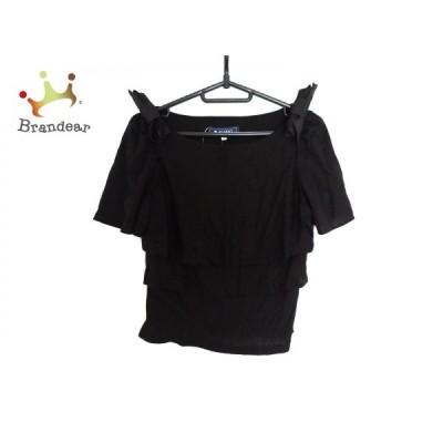 エムズグレイシー M'S GRACY 半袖カットソー サイズ38 M レディース 黒 リボン   スペシャル特価 20200707