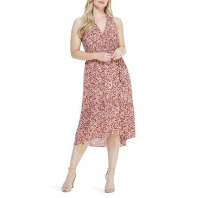 ロンドンタイムス レディース ワンピース トップス Ditsy Print Midi Dress ORANGE