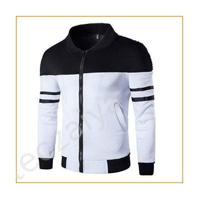 WUAI Men's Casual Jackets Outdoors Patchwork Slim Fit Sports Running Fashion Outwear Motorcycle Coat並行輸入品