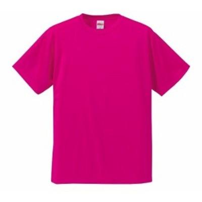 Tシャツ 半袖 メンズ ドライ シルキ-タッチ ノンブリード 4.7oz S サイズ トロピカルピンク 無地 ユナイテッドアスレ CAB