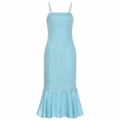 スタッド Staud レディース ワンピース ワンピース・ドレス Lychee linen midi dress Dew Blue