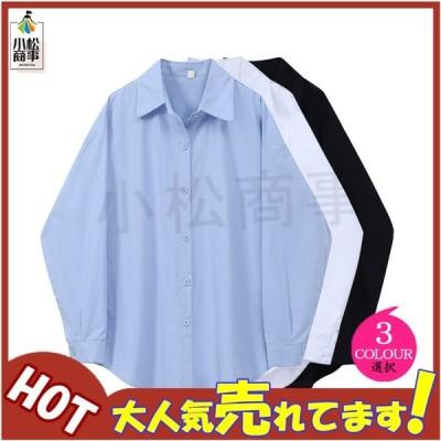 シャツ レディース ブラウス 春秋 長袖 ワイシャツ フォーマル オフィス 白 おしゃれ シャツ カジュアル 制服 レギュラー