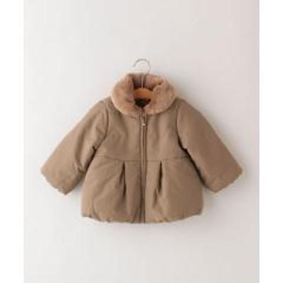 シップスSHIPS KIDS:グログラン エコファー コート(80~90cm)【お取り寄せ商品】