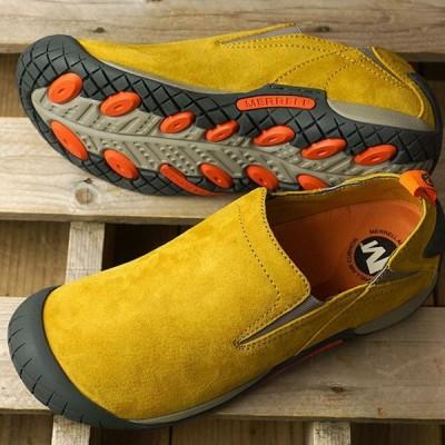 メレル MERRELL スニーカー パスウェイ モック M PATHWAY MOC 66337 FW19 メンズ スリッポン アウトドア 靴 HONEY イエロー系