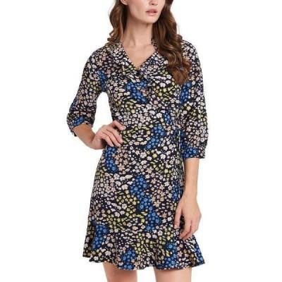 ライリー レイ ワンピース トップス レディース Paige Floral-Print Wrap Dress, Created for Macy's Preppy Navy