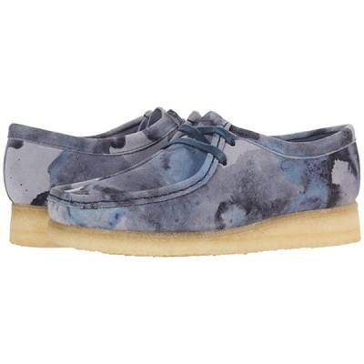 クラークス Wallabee レディース ブーツ Blue Camo