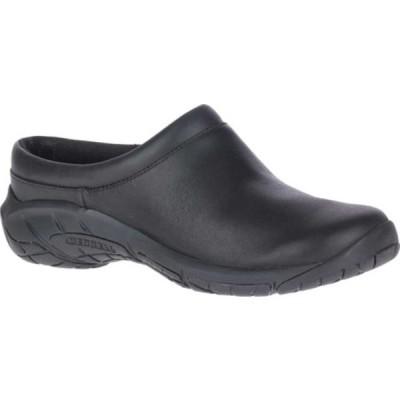 メレル レディース サンダル シューズ Encore Nova 4 Slip On Black Full Grain Leather