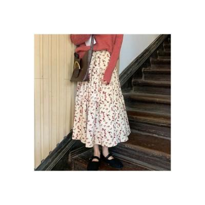 【送料無料】秋服 韓国風 スウィート 小花のスカート 女の子の長いセクション ハイウ | 346770_A63711-5891063