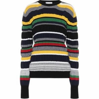J.W.アンダーソン JW Anderson レディース ニット・セーター トップス striped ribbed-knit sweater Navy
