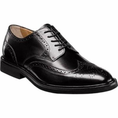 フローシャイム 革靴・ビジネスシューズ Hamilton Wingtip Oxford Black Smooth Leather