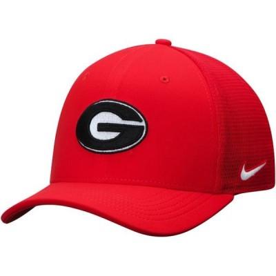 ユニセックス スポーツリーグ アメリカ大学スポーツ Georgia Bulldogs Nike Aerobill Meshback Swoosh Flex Hat - Red 帽子