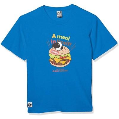 [チャムス] Tシャツ Burger T-Shirt Blue 日本 S (日本サイズS相当)