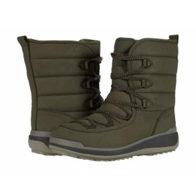 メレル レディース ブーツ&レインブーツ シューズ Snowcreek Cozy Polar Waterproof Olive Leather