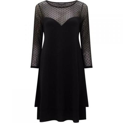 ジュームズ レイクランド James Lakeland レディース パーティードレス ワンピース・ドレス Sheer Sleeve Dress Black