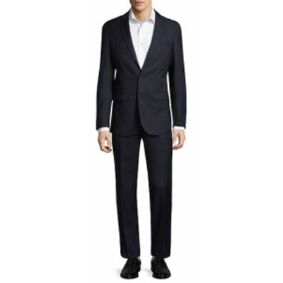 アスペット Men Clothing Pinstripe Suit
