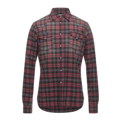 6167 シャツ 赤茶色 39 コットン 100% シャツ