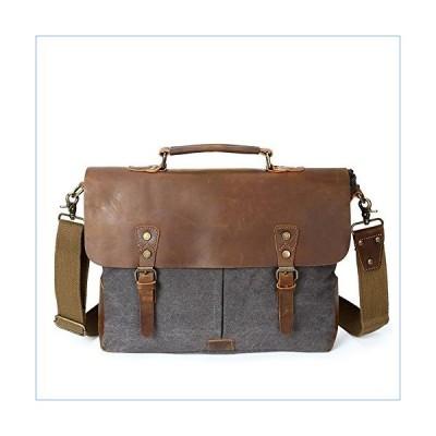 RUNWEI Simple Retro Portable File Bag Zipper Canvas Carry Messenger Bag Business Briefcase並行輸入品