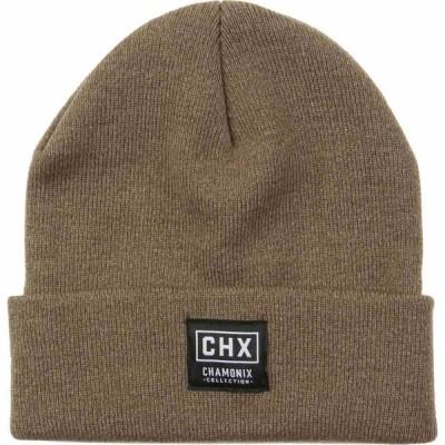 シャモニー Chamonix メンズ ニット ビーニー 帽子 Uni Beanie Brown Heather