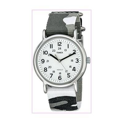 Timex Unisex T2P366 Weekender Gray Camo Slip-Thru Nylon Strap Watch■並行輸入品■