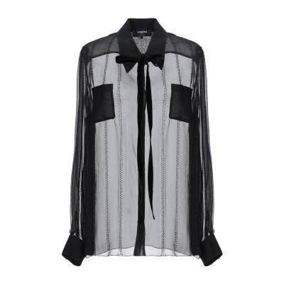 ロシャス ROCHAS シャツ ブラック 38 シルク 100% シャツ