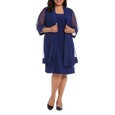アールアンドエムリチャーズ レディース ワンピース トップス Plus Size Embellished Dress & Jacket