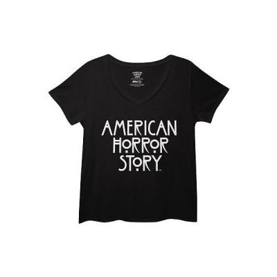 アメリカ人気キャラクター ブラウス アメリカン・ホラー・ストーリー American Horror Story TV Show Title Logo Licensed Womens Plus Size T-Shirt - 3XL