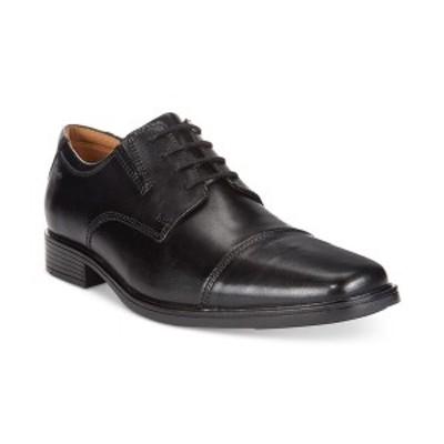 クラークス メンズ ドレスシューズ シューズ Men's Tilden Cap Toe Oxford Black Leather