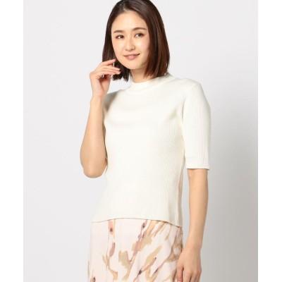 【ミューズ リファインド クローズ】 ウォッシャブルボトルリブニット レディース シロ M MEW'S REFINED CLOTHES