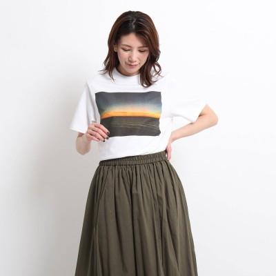 デッサン Dessin STAR&STRIPE フォトプリントTシャツ (ホワイト)